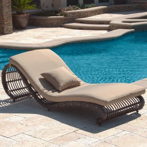pool chair lounger modern rattan pool chaise lounge chair design