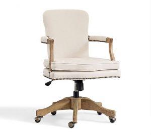 pottery barn desk chair brock upholstered swivel desk chair c