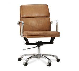 pottery barn desk chair nash leather swivel desk chair c