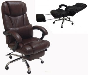 recliner computer chair leather reclining office chair