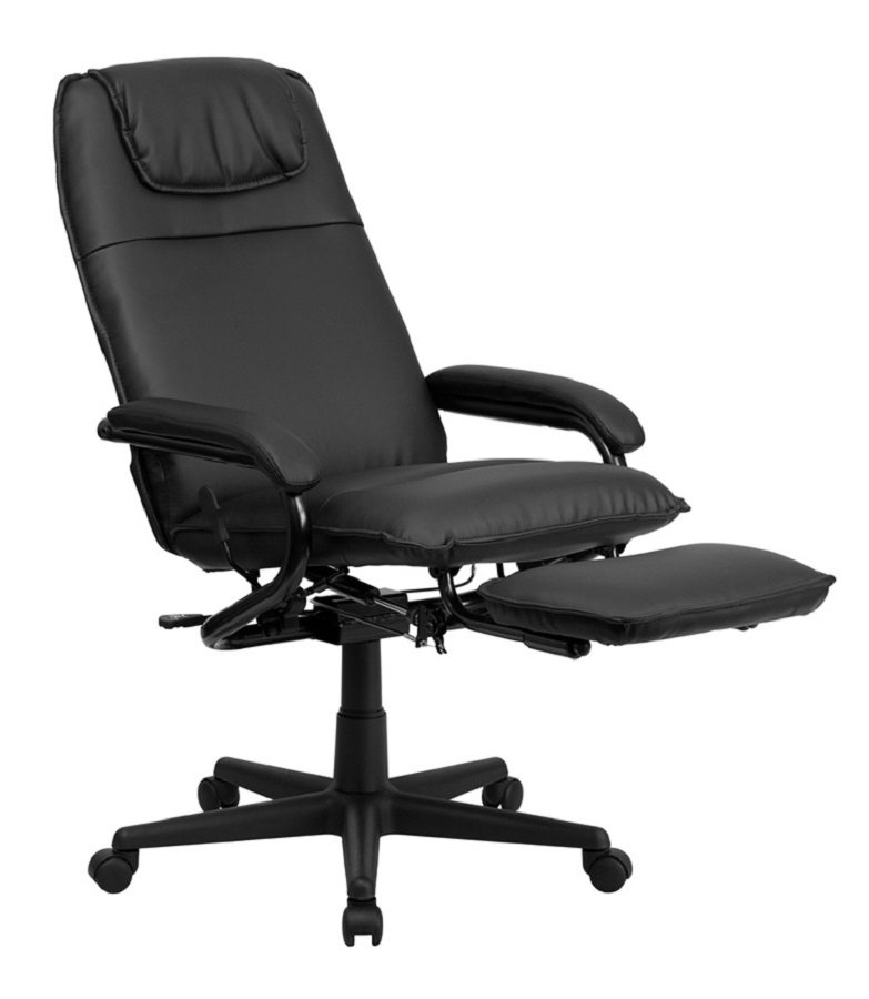 recliner office chair flash furniture high back black leather executive reclining swivel office chair