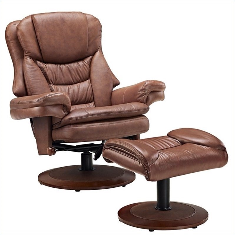reclining chair with ottoman