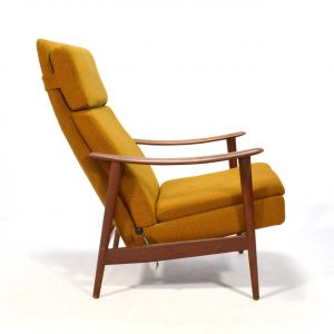 reclining lounge chair danishteakrecliner l