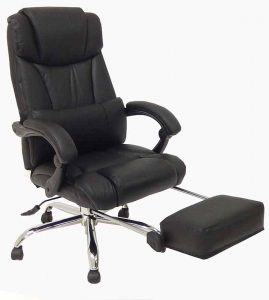 reclining office chair with footrest leather reclining office chair