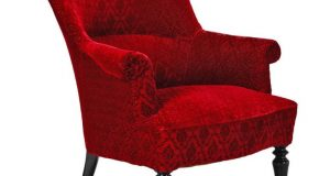 red velvet chair l