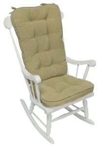 rocking chair cushion greendale home fashions jumbo rocking chair cushion set hyatt fabric cream rocking chair accessory