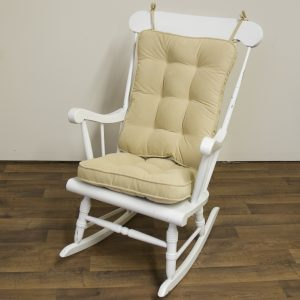 rocking chair cushion greendale home fashions standard rocking chair cushion hyatt fabric cream rocking chair accessory