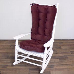 rocking chair cushions greendale home fashions jumbo rocking chair cushion set hyatt fabric burgundy rocking chair accessory