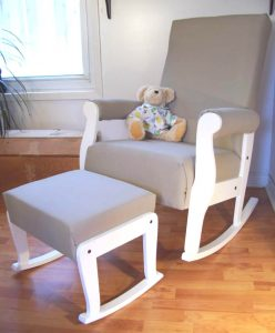 rocking chair for babys room sleighsetwhitetaupe