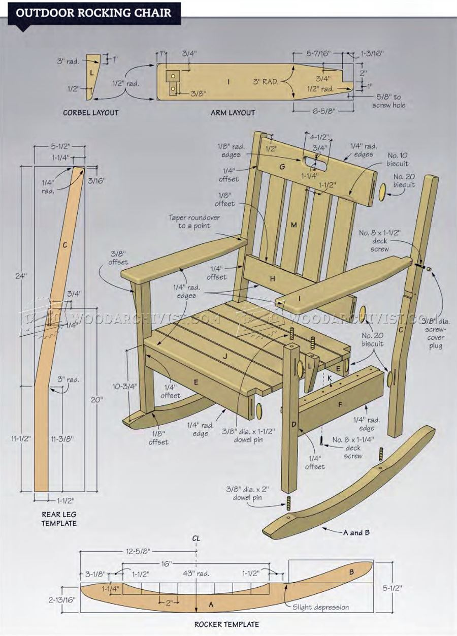 rocking chair plans