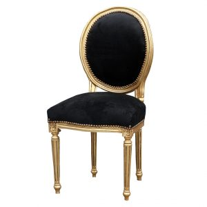 round back chair derrys louis round back chair gold and black