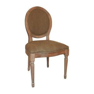 round back chair louis round back chair in beige