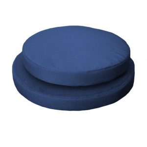 round chair pads gp g g blue
