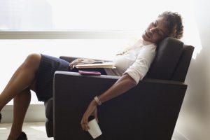 sleeping in a chair black woman sleep in chair