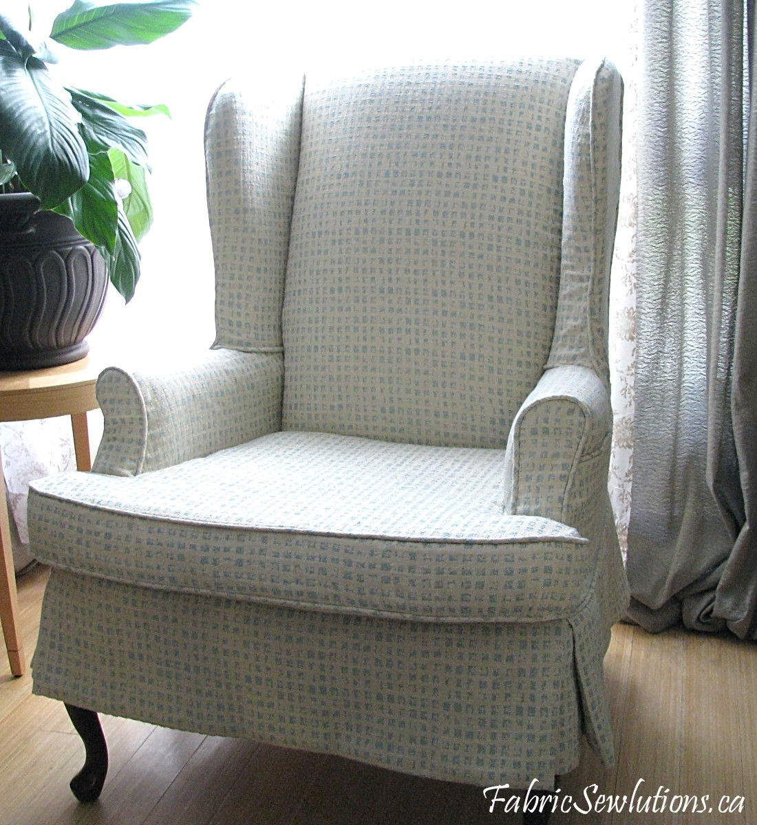 slipcover for wingback chair