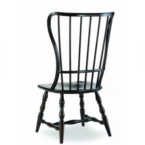spindle back chair hooker furniture sanctuary spindle back side chair