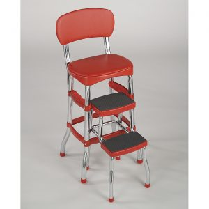 step stool chair red