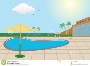 swimming pool chair resort background