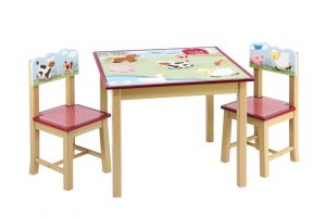table chair set for toddlers kids table chair set guidecraft farm friends kids table chairs set