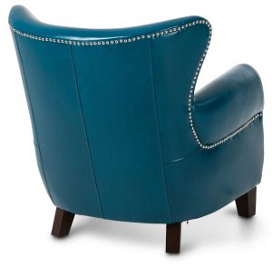 teal blue accent chair aico studio space ladon leather accent chair in teal blue