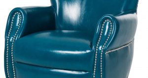 teal blue accent chair aico studio space ladon leather accent chair in teal blue st bladn tea