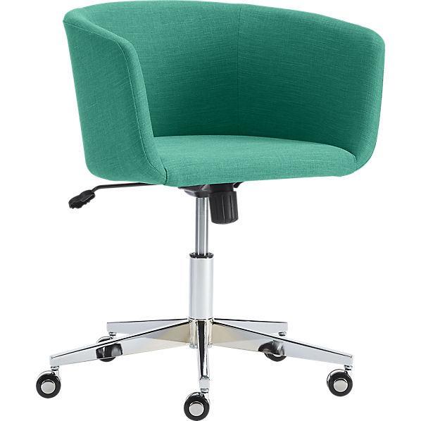 teal desk chair