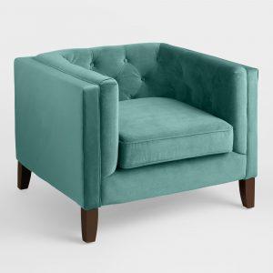 teal velvet chair xxx v