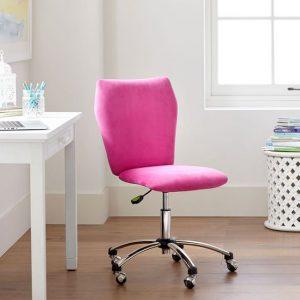 teen desk chair velvet airgo chair pink pb teen