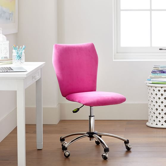 teen desk chair velvet airgo chair pink pb teen