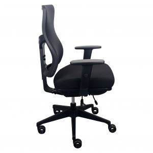 tempurpedic office chair tempur pedic fabric back tp f