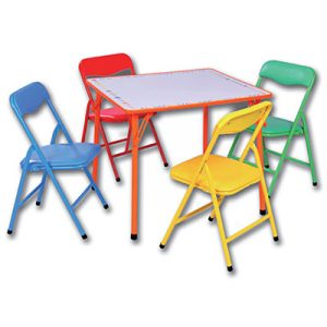 toddler folding table and chair piece kids folding dry erase table chairs std