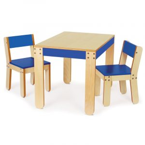 toddler table and chair blue wooden table and chair set for toddlers