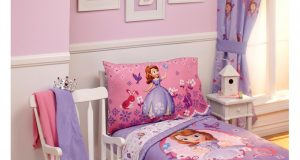 toddler wooden rocking chair bedroom interior white stained wooden rocking chair beside single bed with princess sofia bedding set lovely girl toddler bedding sets ideas