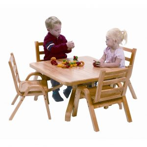 toddlers chair and table set angeles naturalwood square toddler table and chair set ab