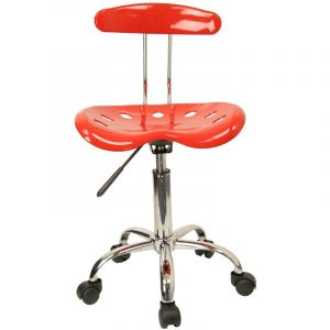 tractor seat chair flash furniture vibrant red chrome computer task chair w tractor seat lf red gg