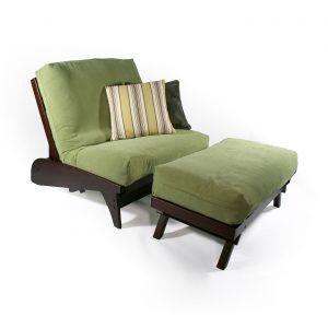 twin futon chair dillon twin chair dark cherry