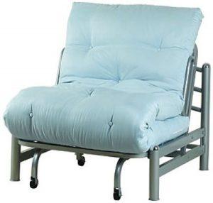 twin futon chair light blue double futon chair idea