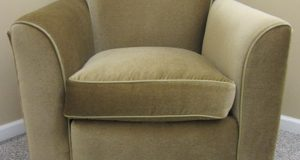 upholstered club chair seating
