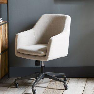 upholstered desk chair media