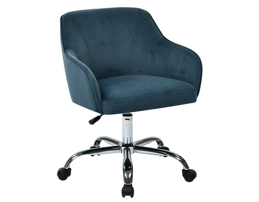 upholstered desk chair with wheels