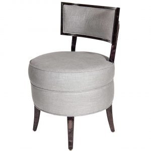 vanity chair with back round upholstered vanity chair with back