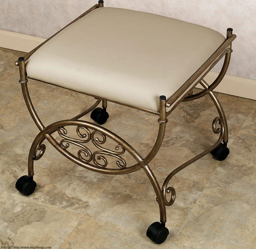 vanity chair with wheels