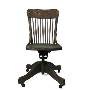 vintage desk chair daily memorandum wood antique office chair