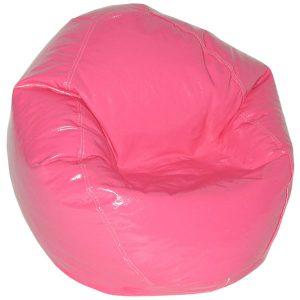 vinyl beanbag chair magenta