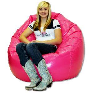 vinyl beanbag chair classic vinyl beanbag wet pink large