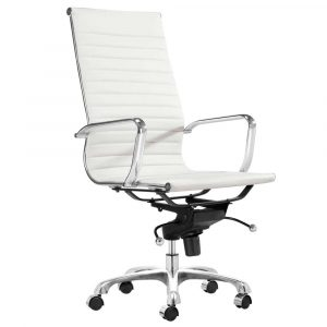 white computer chair adjustable lider high back white office chair