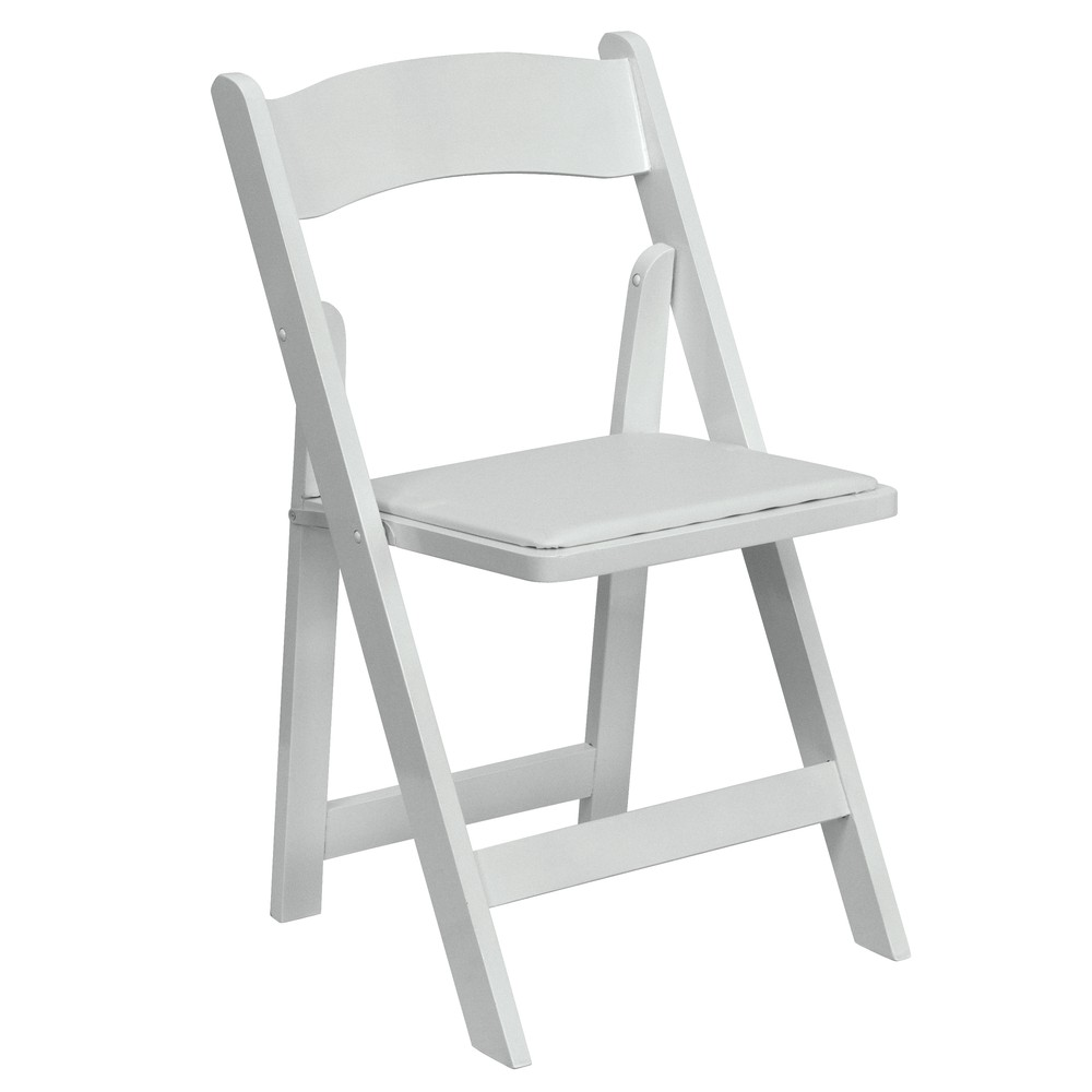 white folding chair garden chair