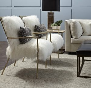 white fur chair l brs av