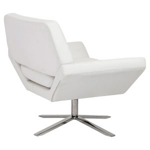 white lounge chair carlotta lounge chair white back