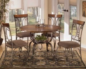 white metal dining chair antique style dining room pieces round metal dinette sets white shades window blinds padded grey fabric wrapped chairs cushion vintage floral motif rugs